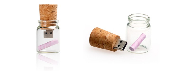 drift bottle Cork Shape usb flash drive wooden pendrive with Customized Logo