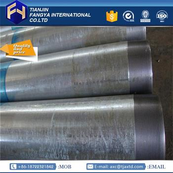 trade assurance supplier ! pre galvanized steel pipe in tianjin galvanized pipes thread ends with great price