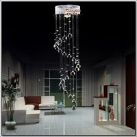 Hot selling Crystal Ceiling Light Fixture / Lamp Spiral Crystal Lamp for Hallway bedroom MD3037 D220mm H660mm