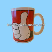 Red Thumb Up Glove Blank Coffee Mugs Wholesale