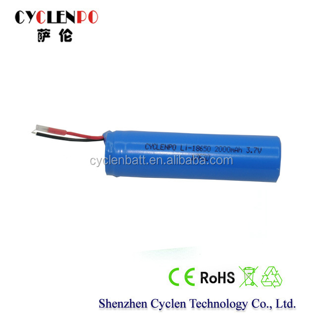 Dynamic power battery, 3.7V 2000mah lithium battery, 3.7V lithium rechargeable battery