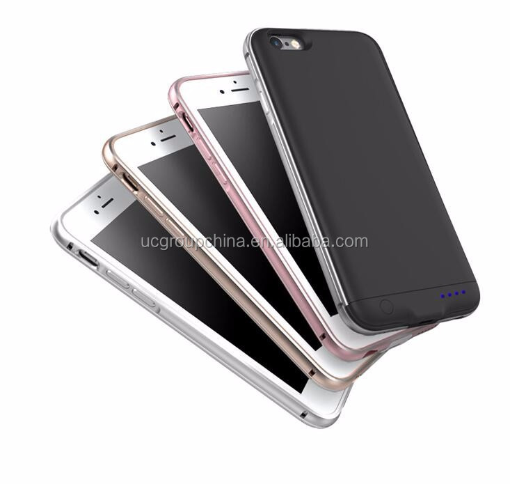 2016 External Smart Battery Charger Case for iPhone6, Plastic Wallet Power Bank Charging Case for iPhone 7