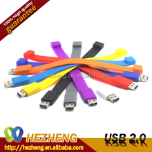 8GB USB With Logo Beautiful Silicone Bracelet USB Flash Drive