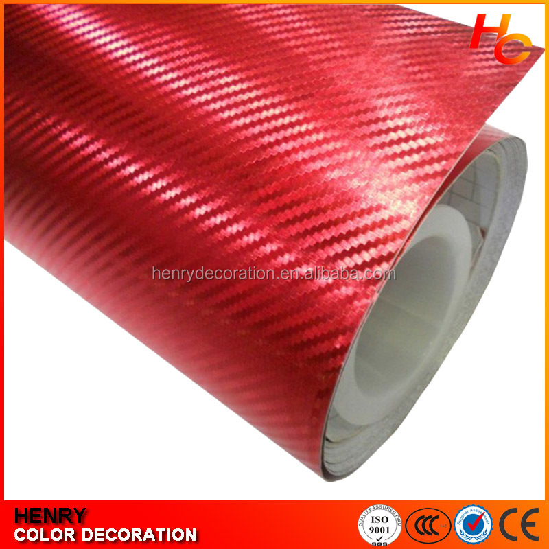 1.52*30m Factory price Red heat capacity Carbon Fiber 2d carbon fiber car wrap/carbon fiber heat resistant wrap