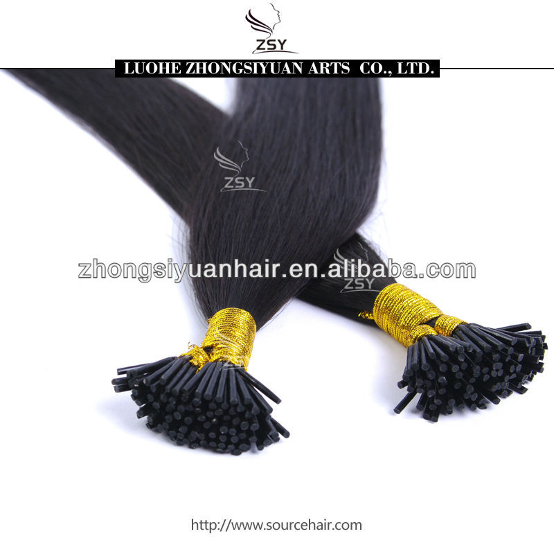 Hot <strong>selling</strong> double drawn i tip hair extensions