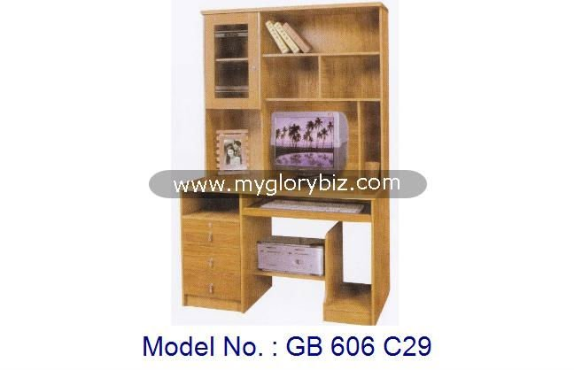 MDF Wooden Computer Laptop Desk For Study Table With Drawer And Cabinet In Elegant Style