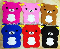 Smart relax bear silicone case cover for ipad 3 ipad 4