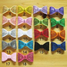 New Hair Products 18 Colors In Stock Kids Children Hair Accessories Mini Sequin Bows For Headband Headwear