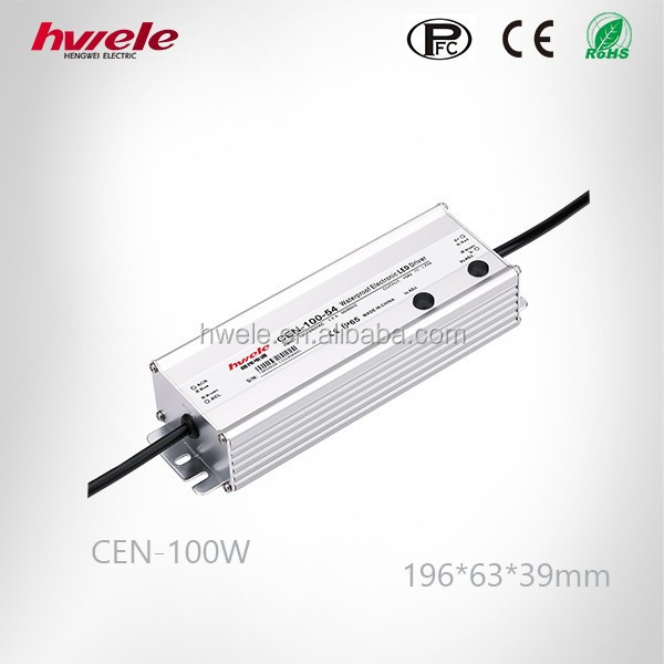 24v 36v 100W LED dimmable power supply with PFC function Meanwell