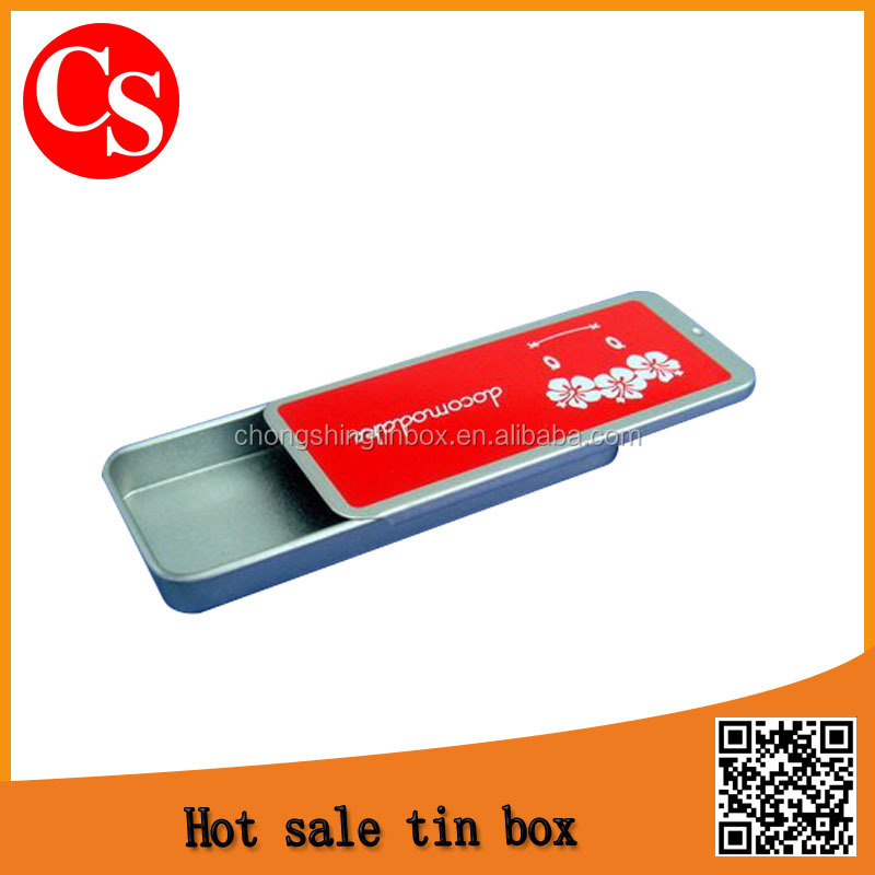 Metal,0.23mm thickness tinplate Material and Accept Custom Order slide lid mint tin box Dongguan
