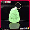 Promotion cheap 3D custom transparent rubber keyring with company logo