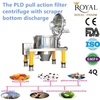 Automatic Vertical Pull Action Filter Centrifuges for Solid-Liquid Separation