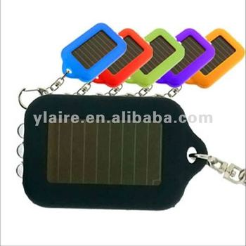 Good selling fashionable led solar flashlight keychain