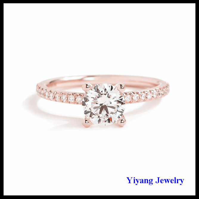 2017 New Trending Dubai Gold Plated Diamond Ring Jewelry