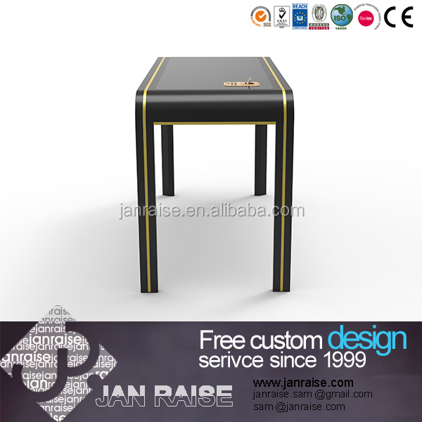 Black color desktop computer table design for shop