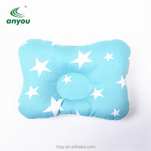 100% cotton breathable bone pillow 0-1 year old baby can use throughout the year to prevent flat head