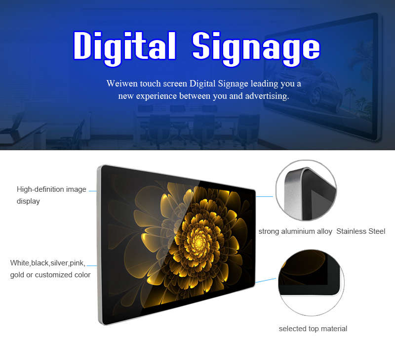 portrait wall mount bracket table base tablet monitor android mid led advertising media player hd
