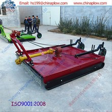 Rear mounted rotary slasher hay mower machine