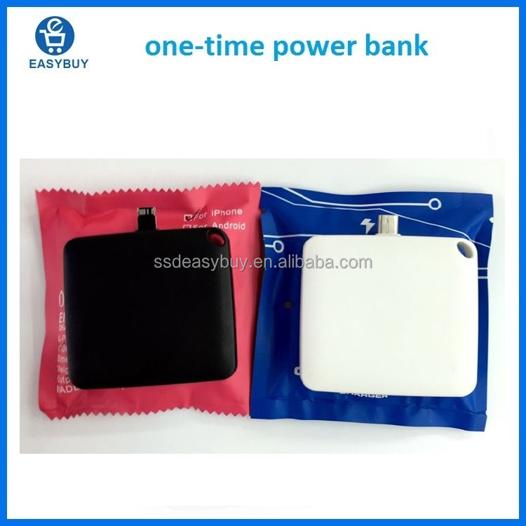 new products 2017 one use powerbank disposable power bank for mobile galaxy s 4