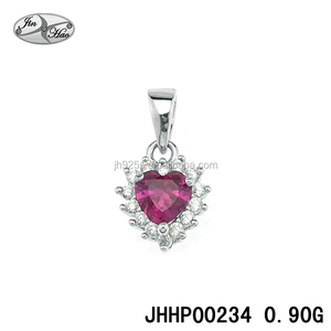 Fashion Intimate Jewelry, Ruby Heart Pendent, Silver Jewelry