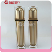 2016 New Square Acrylic Cosmetic Bottle For Personal Skin Care