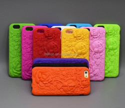 3D silicone mobile phone case for iphone 6,for iphone 6 silicone case mix color