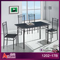 1202-17B cheap 4 seaters dinning table set