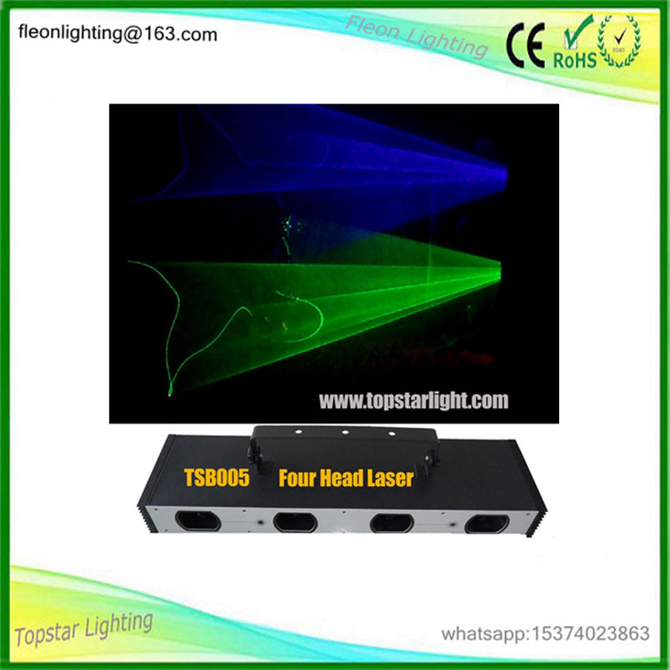 multi color 4 eyes stage laser light show system/indoor laser beam light