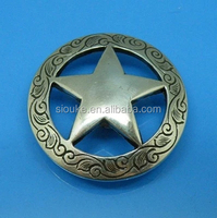 Jenly 2015 DIY Leathercraft Hardware 1-1/2''(38mm) Western Texas Star Concho Antique Silver