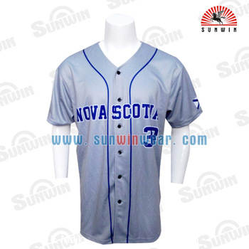 New Arrival Sublimation Printing Blank Pinstripe Baseball Jerseys
