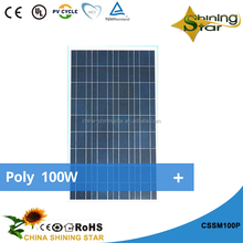 lowest price poly 100Wp solar panels 90Wp 100Wp 120w solar module