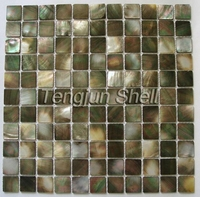 MS202 square shape luxury Black lip sea shell mosaic