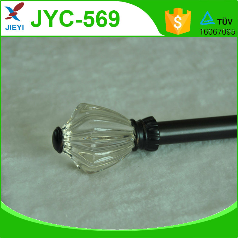 Smooth hyaline acrylic curtain rods finials