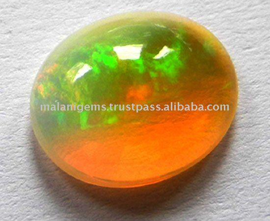 Natural Ethiopian Opal Oval Cabochon Gemstone