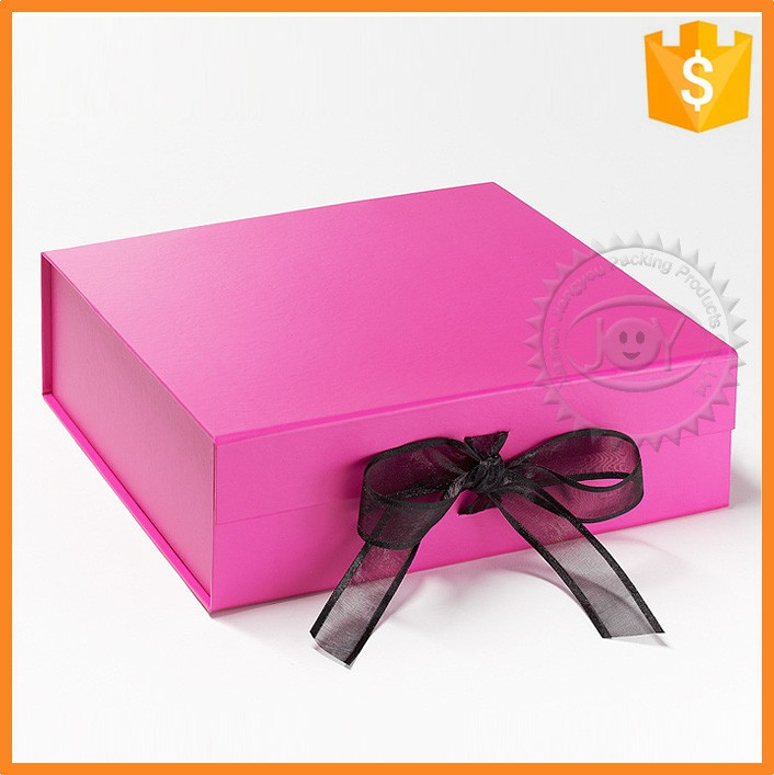Wholesale recycle cardboard paper box with ribbon for gift