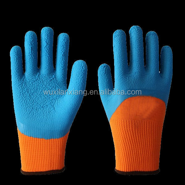 Chemical resistant latex coated work safety gloves industrial rubber glove High Quality made in China