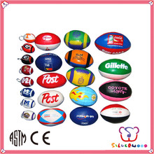 GSV ICTI Factory Custom made Promotional Logo Printed gilbert rugby ball