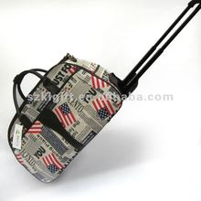 2013 Shenzhen Best Design Colourful Travel Trolley Luggage Bag,Fantastic Flag Printing Tote Bag with High Quality