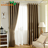 Wholesale cinema solid linen dimout/blockout curtain fabric for home textile