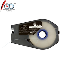 tape for canon CH1106W 6mm white label tape cassette for Cable ID Printer MK2500