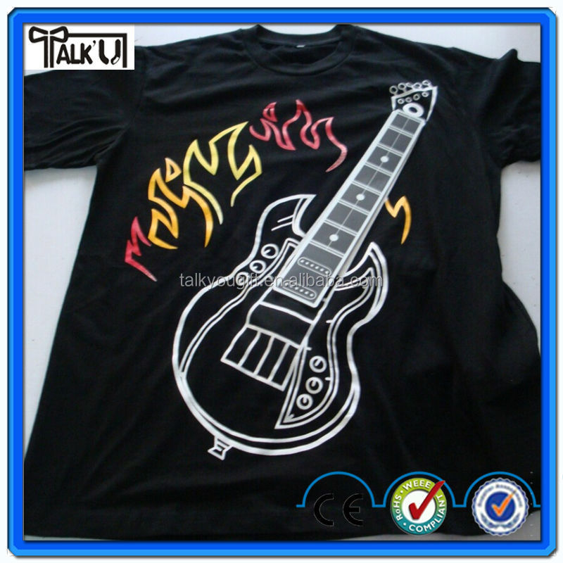 Amazing cool playable Rock Guitar electronic t shirt for men, Guitar & drum t shirt & piano t shirts