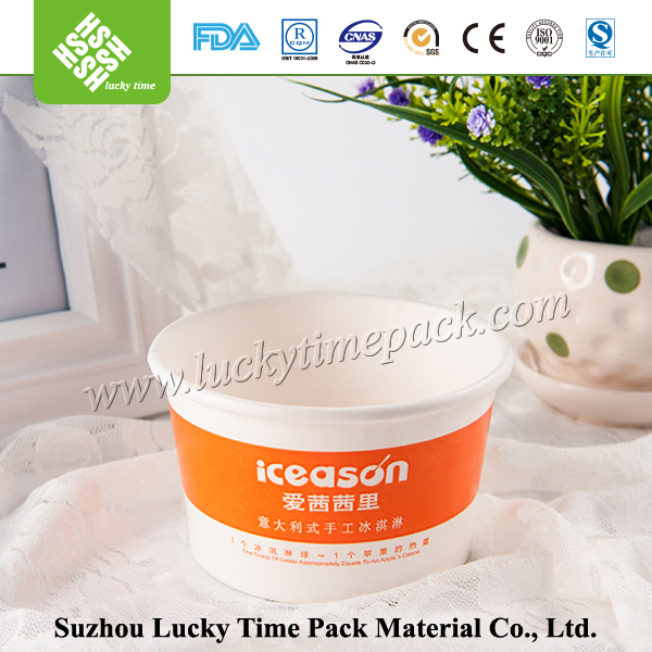 Paper cup fan made from machine paper cup for food containing