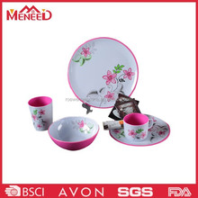 Hot selling two tone color plastic melamine dish set