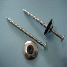 Plastic brass corrugated roofing nails for wholesales