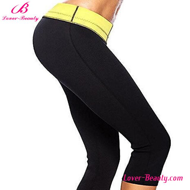 Black tight fitness body shaper neoprene slimming pants