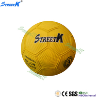 2016 streetk handball manufacturers high quality colorful rubber ball hollow bounce ball rubber handball for kids