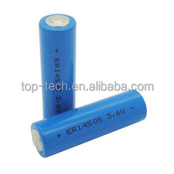 ER14505 aa size lithium battery 3.6V 2700mAh LiSOCI2 battery LS145OO
