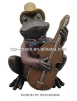 craft supplies frog playing guitar home decoration item