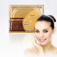 OEM Wholesale face moisturizing whitening 24k gold foil collagen crystal facial mask