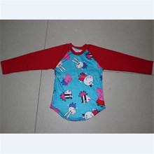 newborn teen boy spring knit cotton long sleeves raglans baby boy little pig patterns t-shirt clothing